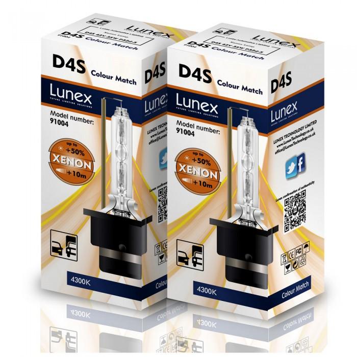 D4S LUNEX Standard 4300K Xenon (Pair)