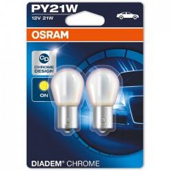 PY21W OSRAM 12V BAU15s DIADEM CHROME  (Pair)