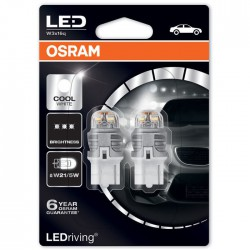 W21/5W OSRAM LEDriving 12V Cool White 6000K (Pair)