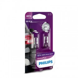 WBT10 PHILIPS 12V 6W W2,1x9,5d (Pair)