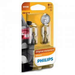 W16W PHILIPS 12V 16W W2,1x9,5d (Pair)