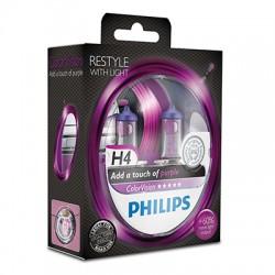 H4 PHILIPS ColorVision Purple 3350K (Pair)