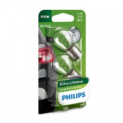 P21W PHILIPS LongLife EcoVision (Pair)