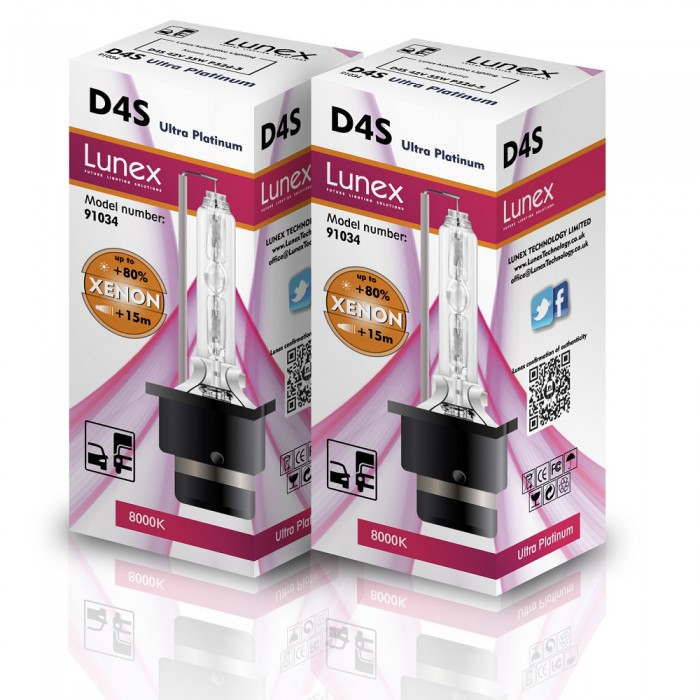 D4S LUNEX Premium 8000K Xenon (Pair)