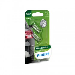 W5W PHILIPS 12V LongLife EcoVision (Pair)