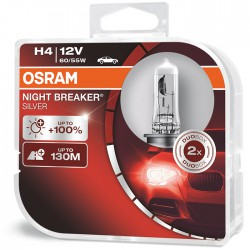OSRAM H4 NIGHT BREAKER SILVER (Pair)