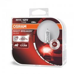 OSRAM H11 NIGHT BREAKER SILVER (Pair)
