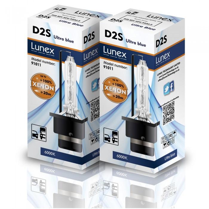 D2S LUNEX Premium 6000K Xenon (Pair)