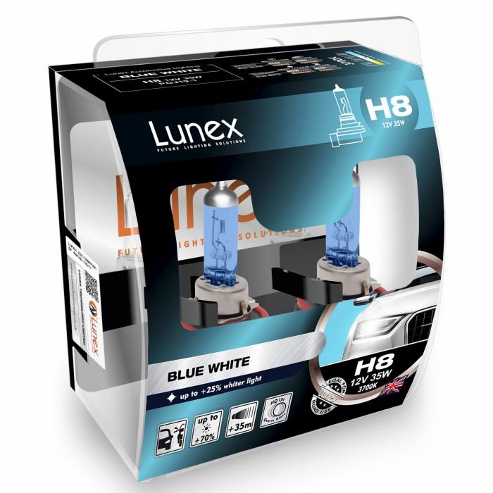 H8 LUNEX BLUE WHITE 3700K (Pair)