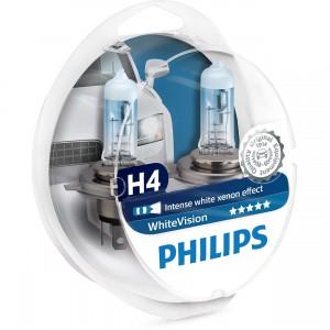 H4 PHILIPS WhiteVision 3700K (Pair)