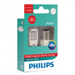 P21/5W PHILIPS Ultinon LED 12V RED (Pair)