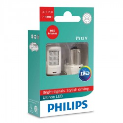 P21W PHILIPS Ultinon LED 12V RED (Pair)