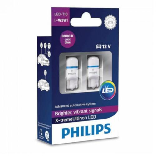 W5W PHILIPS  X-tremeVision LED 8000K (Pair)