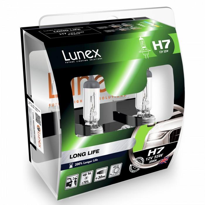 H7 LUNEX STANDARD LONG LIFE 3000K (Pair)