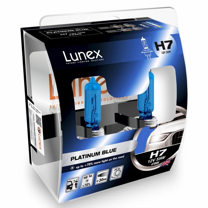 H7 LUNEX PLATINUM BLUE 4700K (Pair)