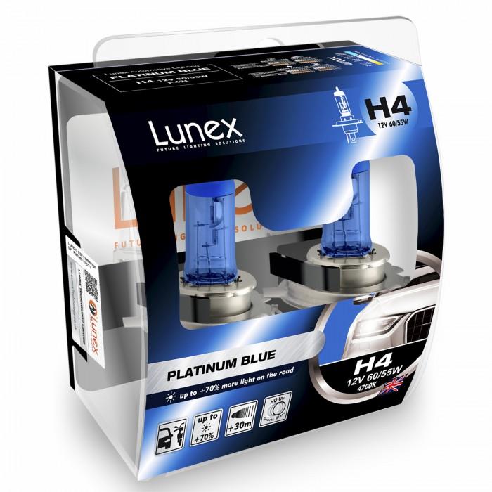 H4 LUNEX PLATINUM BLUE 4700K (Pair)