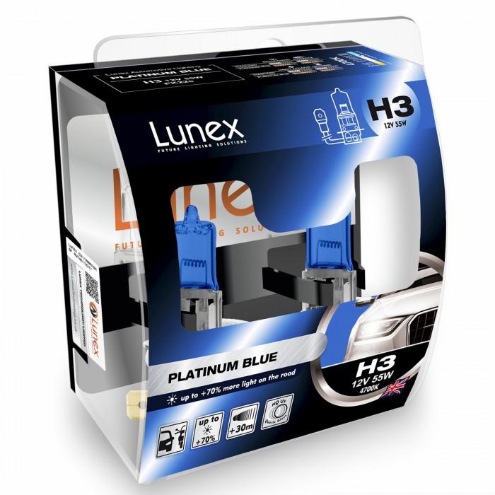 H3 LUNEX PLATINUM BLUE 4700K (Pair)