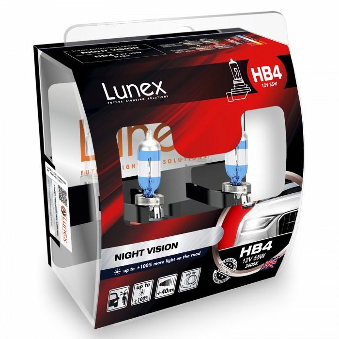9006(HB4) LUNEX NIGHT VISION 3600K (Pair)