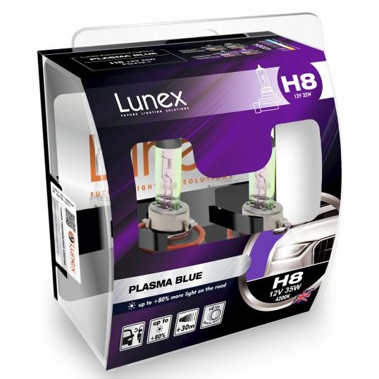 H8 LUNEX PLASMA BLUE 4200K (Pair)