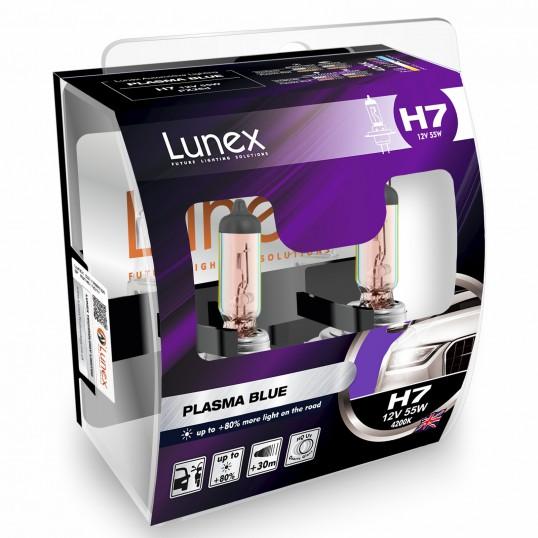 H7 LUNEX PLASMA BLUE 4200K (Pair)
