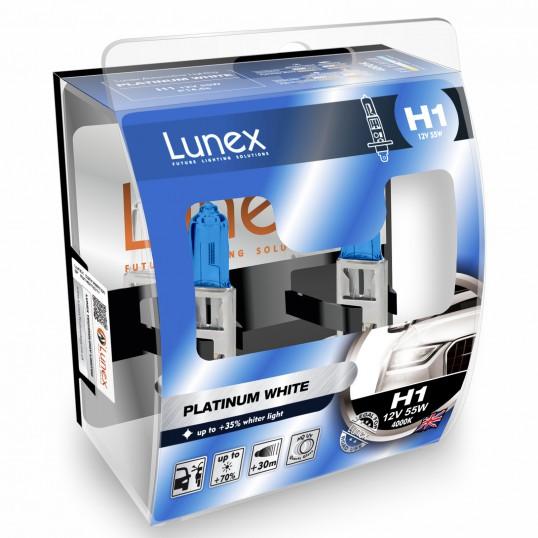 H1 LUNEX PLATINUM WHITE 4000K (Pair)