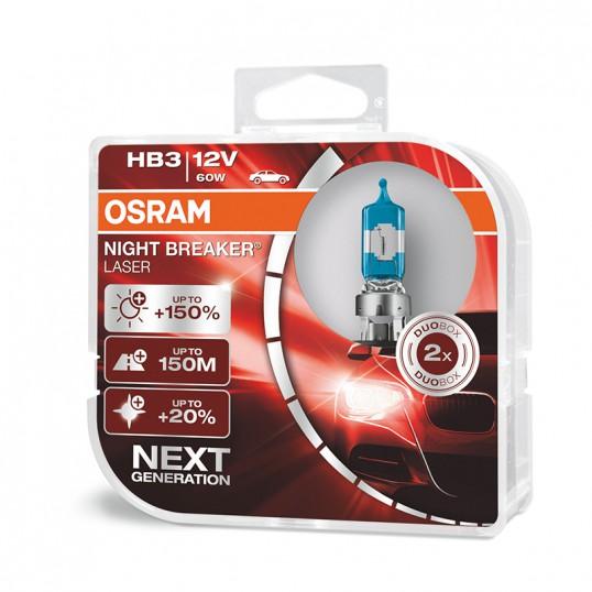 HB3 OSRAM NIGHT BREAKER LASER NEXT GENERATION (Pair)